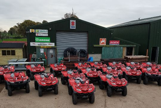 Quad bike servicing at Barlows Agri Ltd, Macclesfield, Cheshire