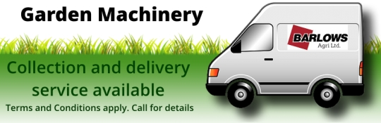 Garden Machinery collection and delivery service from Barlows Agri Ltd, Macclesfield, Cheshire